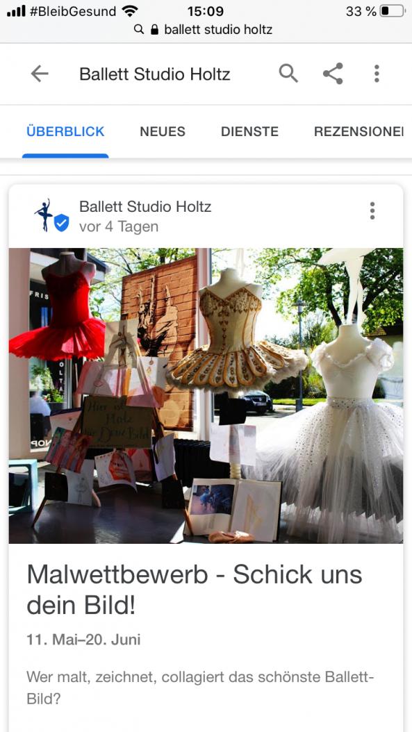 Ballett Studio Holtz Ahrensburg - Malwettbewerb